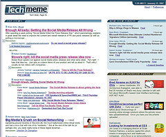 PR2.0 Top Story on TechMeme