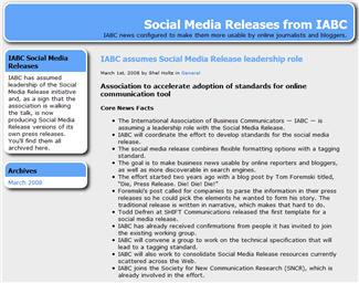 media release example
