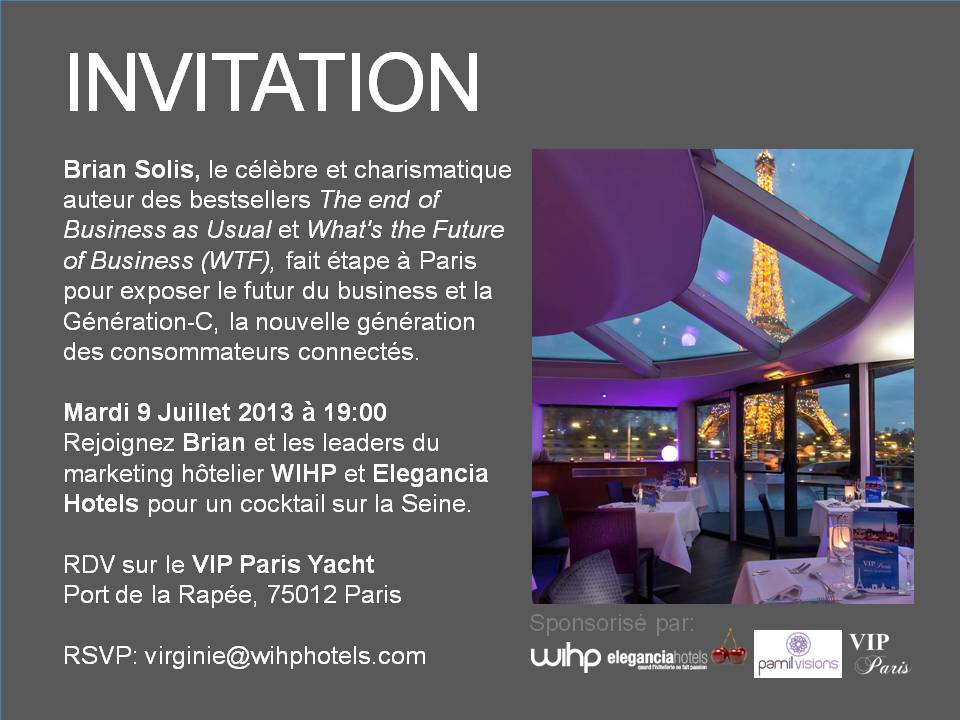 Your invitation to events in Paris and London