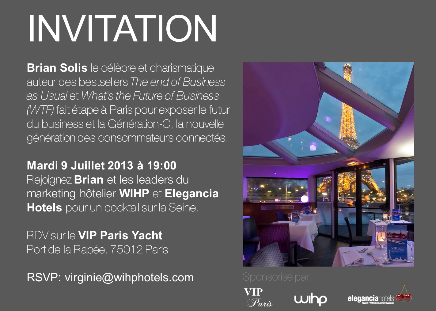 Your invitation to events in Paris and London - 推酷