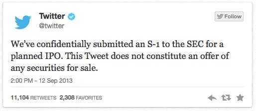 5b4abde4e With a tweet  Twitter kicks off next big tech IPO