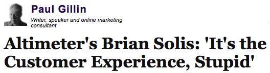 Author Paul Gillin interviews Brian Solis for Huffington Post