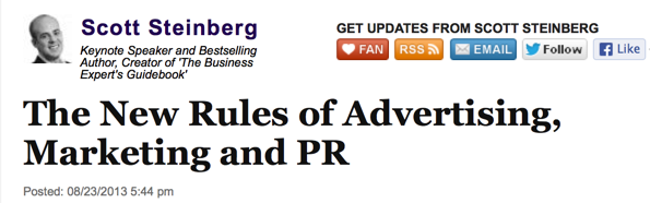 Huffington Post Explores The New Rules of Advertising, Marketing and PR with Brian Solis