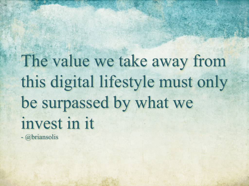 This So-Called Digital Life: Re-Evaluating the Value of Social Media