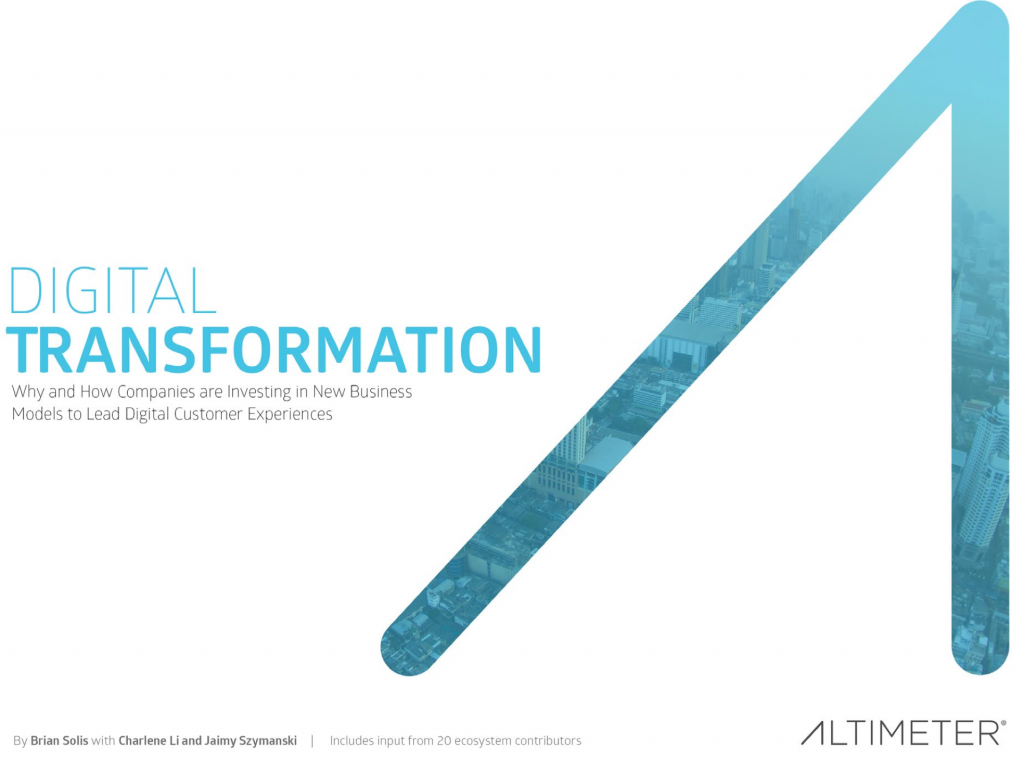 Report: Digital Transformation and the New Customer Experience