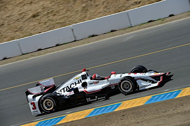 Racing IndyCars with Team Penske and Hitachi