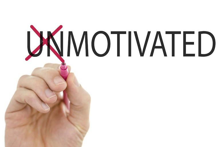 Changing word Unmotivated into motivated