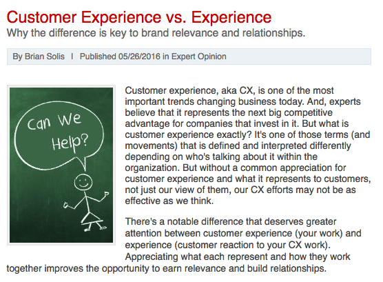1to1 Media: Customer Experience vs. Experience