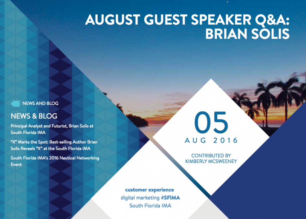 South Florida Interactive Marketing Association: August Speaker Q&A With Brian Solis