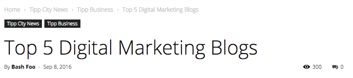TippNews DAILY: Top 5 Digital Marketing Blogs