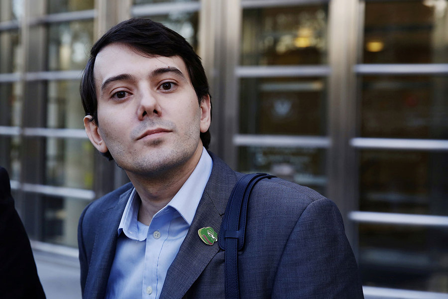 The Christian Science Monitor: Twitter bans 'pharma bro' Martin Shkreli for harassing journalist