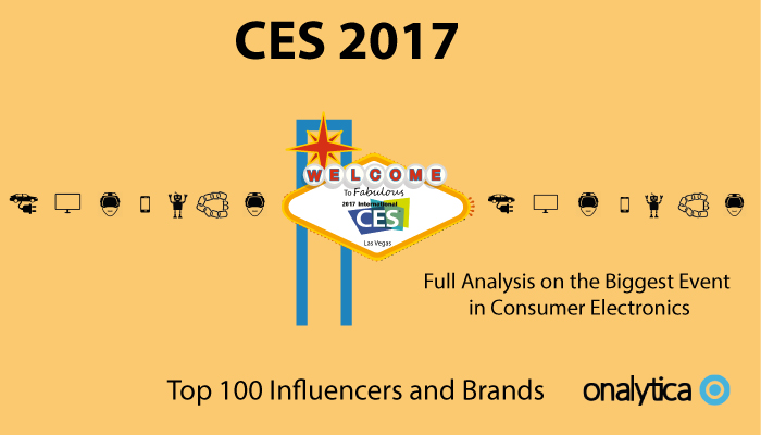 Onalytica: Top 100 Influencers and Brands at CES 2017