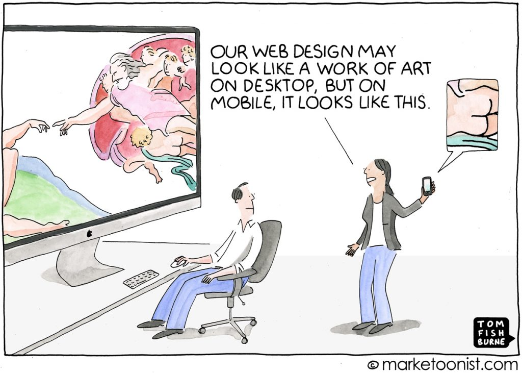 Marketoonist: Designing for mobile