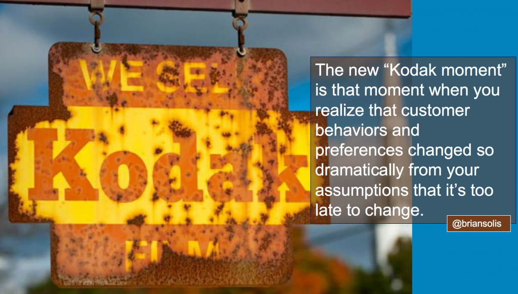 The New Kodak Moment = That Moment When You Lose Market Relevance