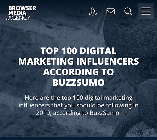 Brian Solis Ranks #2 on BuzzSumo's List of Top 100 Digital Marketing Influencers