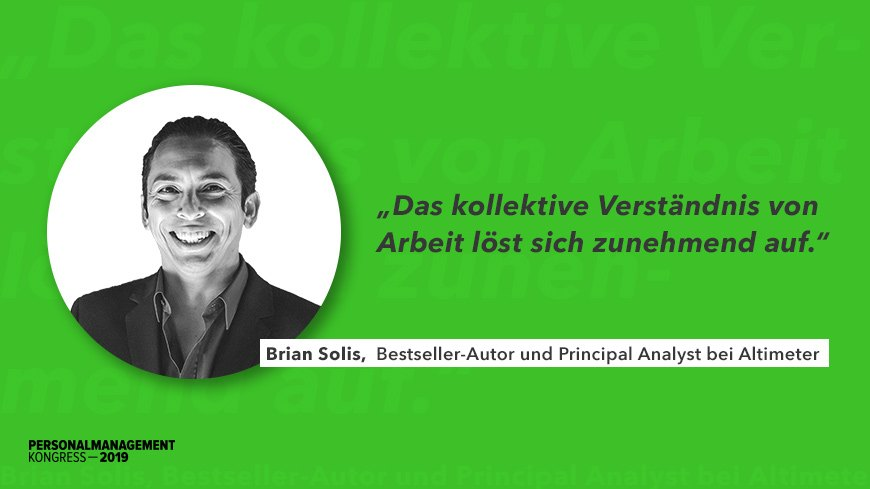 Brian Solis, a Keynote Speaker of the PMK, Speaks to German Human Resources Manager Site