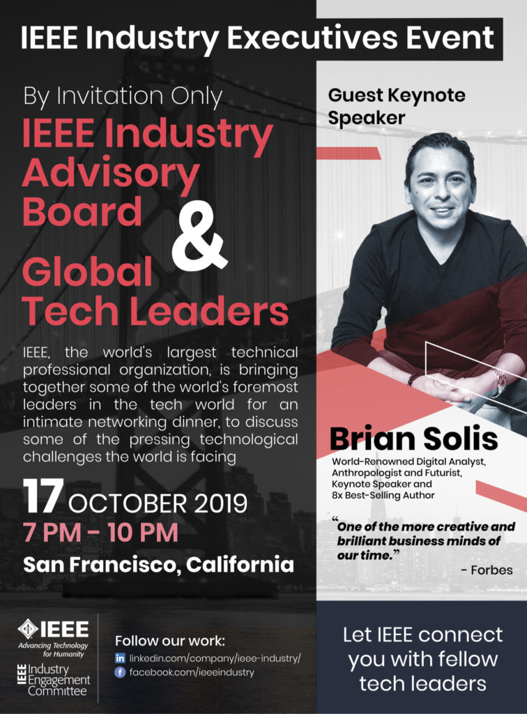 IEEE Industry Executives Event Features Keynote Speaker Brian Solis