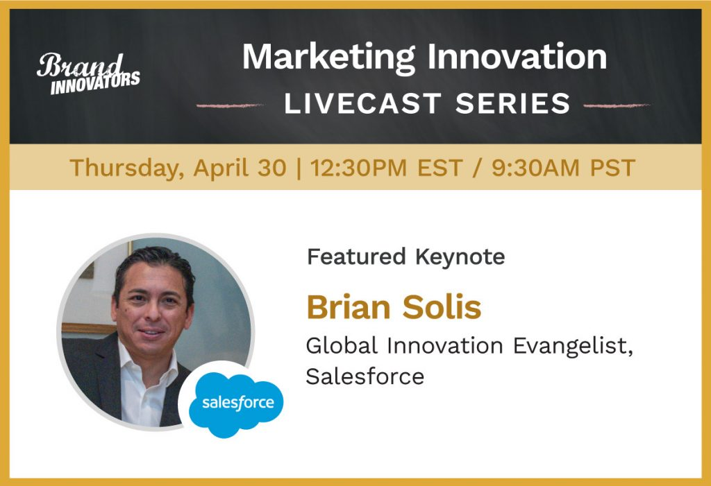 Best Virtual Keynote Speaker Series: Brian Solis to Speak at Brand Innovators' Online Event on The Novel Economy