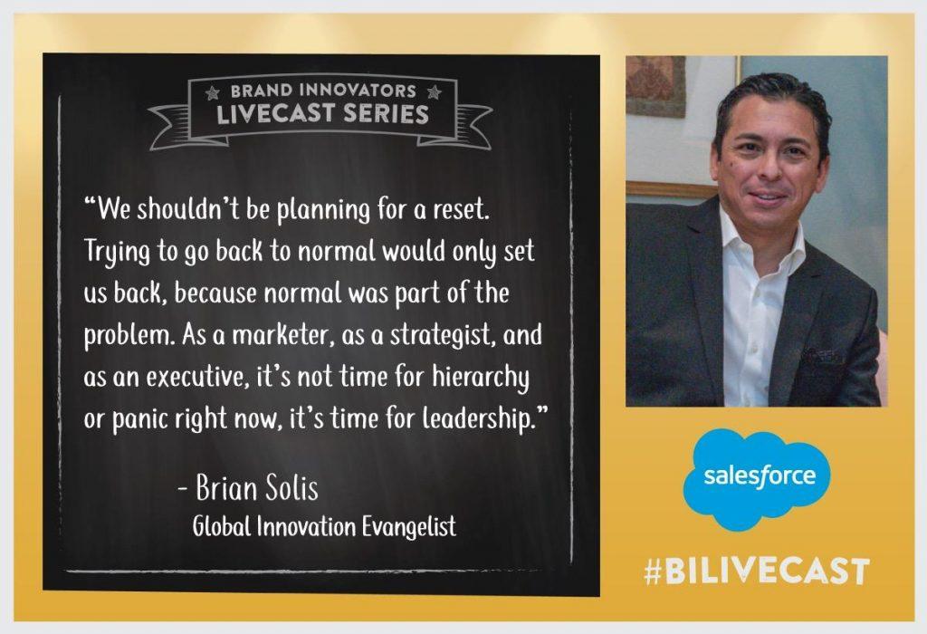 Salesforce's Global Innovation Evangelist Brian Solis Delivers Virtual Keynote on the Novel Economy at Brand-Innovators Summit