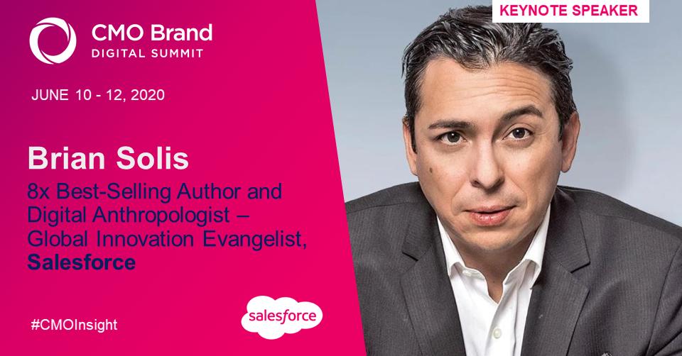 O Grupo GDS dá as boas-vindas a Brian Solis como palestrante nas próximas Cúpulas Digitais de CIO, Inovação Digital e Marca CMO 4