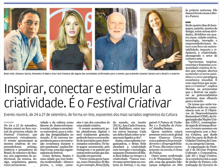 Brian Solis Keynote: Inspirar, conectar e estimular a criatividade. É o Festival Criativar
