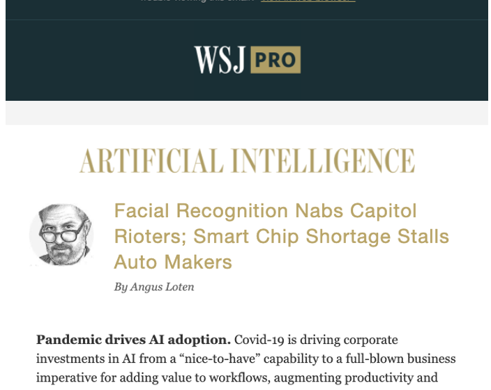 Wall Street Journal Artificial Intelligence Newsletter Features Article by Brian Solis on Future of AI