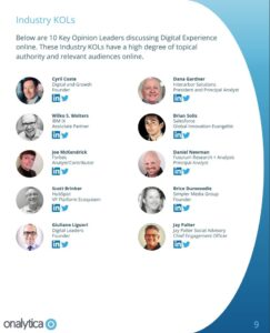 Who's Who in Digital Experience?  Brian Solis Named One of 10 Industry Key Opinion Leaders