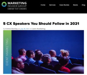 Marketing Insider Group: 5 CX Speakers You Should Follow in 2021